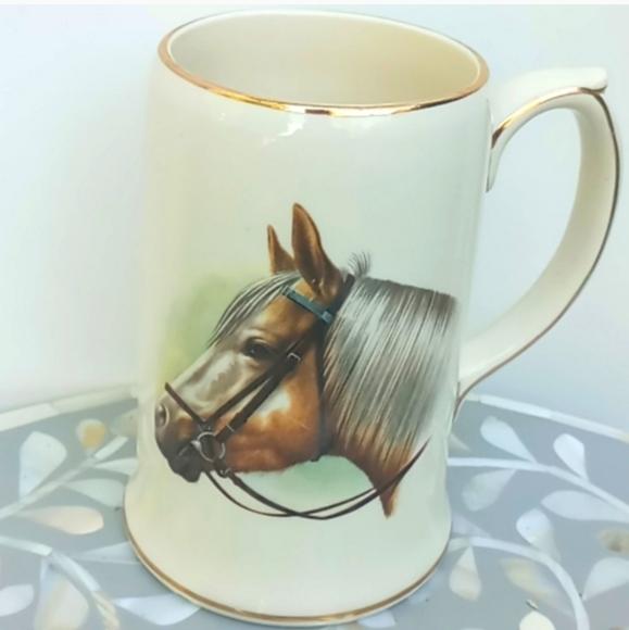 Vintage England Sadler Horse Beer Stein or Mug